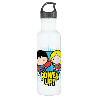 Chibi Superman & Chibi Supergirl Power Up! 710 Ml Water Bottle