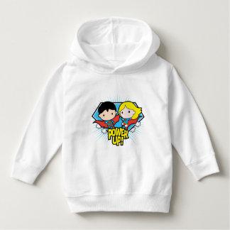 Chibi Superman & Chibi Supergirl Power Up! Hoodie