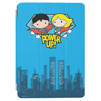 Chibi Superman & Chibi Supergirl Power Up! iPad Air Cover