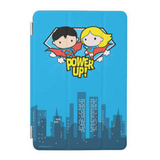 Chibi Superman & Chibi Supergirl Power Up! iPad Mini Cover