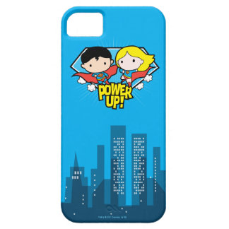 Chibi Superman & Chibi Supergirl Power Up! iPhone 5 Cover