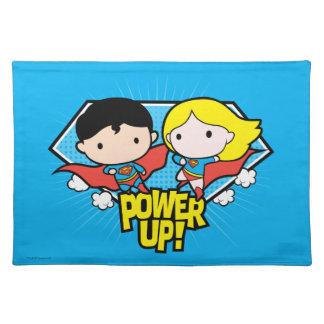 Chibi Superman & Chibi Supergirl Power Up! Placemat