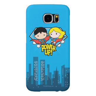 Chibi Superman & Chibi Supergirl Power Up! Samsung Galaxy S6 Cases