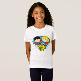 Chibi Superman & Chibi Supergirl Power Up! T-Shirt