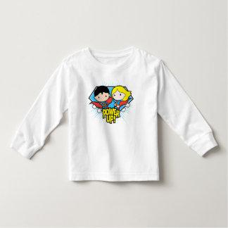 Chibi Superman & Chibi Supergirl Power Up! Toddler T-shirt
