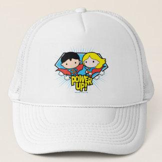 Chibi Superman & Chibi Supergirl Power Up! Trucker Hat