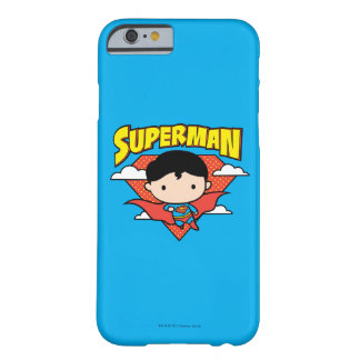 Chibi Superman Polka Dot Shield and Name Barely There iPhone 6 Case