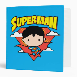 Chibi Superman Polka Dot Shield and Name Binders