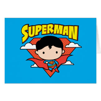 Chibi Superman Polka Dot Shield and Name Card
