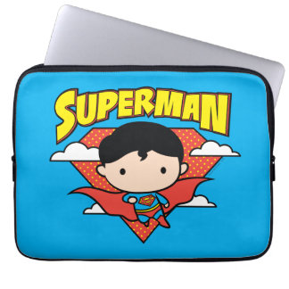 Chibi Superman Polka Dot Shield and Name Computer Sleeve