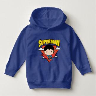 Chibi Superman Polka Dot Shield and Name Hoodie