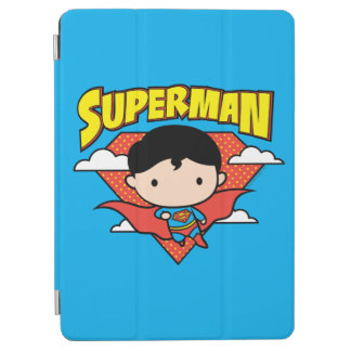 Chibi Superman Polka Dot Shield and Name iPad Air Cover