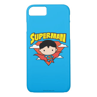 Chibi Superman Polka Dot Shield and Name iPhone 7 Case
