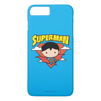 Chibi Superman Polka Dot Shield and Name iPhone 7 Plus Case