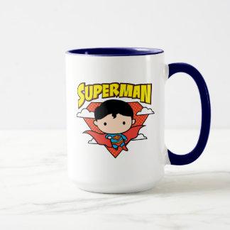Chibi Superman Polka Dot Shield and Name Mug
