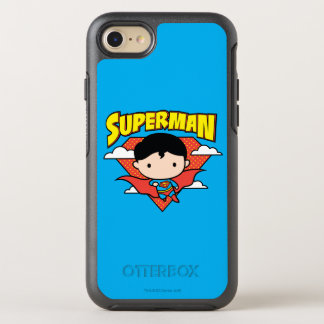 Chibi Superman Polka Dot Shield and Name OtterBox Symmetry iPhone 7 Case