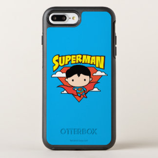 Chibi Superman Polka Dot Shield and Name OtterBox Symmetry iPhone 8 Plus/7 Plus Case
