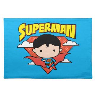 Chibi Superman Polka Dot Shield and Name Placemat