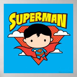 Chibi Superman Polka Dot Shield and Name Poster