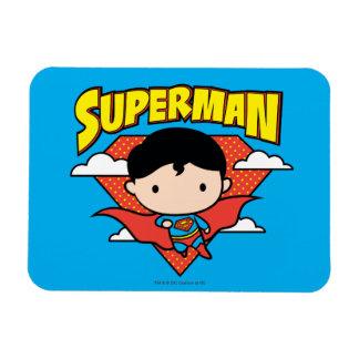 Chibi Superman Polka Dot Shield and Name Rectangular Photo Magnet