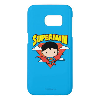 Chibi Superman Polka Dot Shield and Name Samsung Galaxy S7 Case