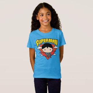 Chibi Superman Polka Dot Shield and Name T-Shirt