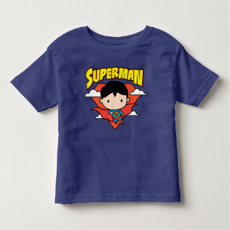 Chibi Superman Polka Dot Shield and Name Toddler T-shirt
