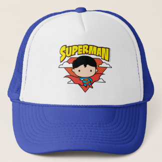 Chibi Superman Polka Dot Shield and Name Trucker Hat