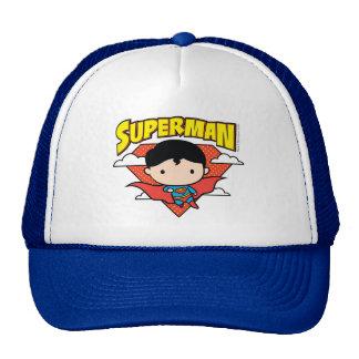 Chibi Superman Polka Dot Shield and Name Trucker Hat