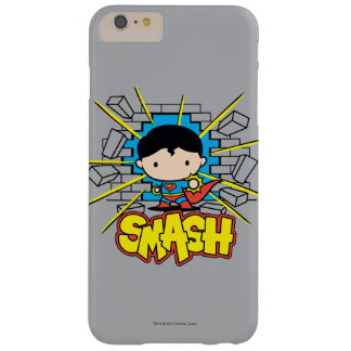 Chibi Superman Smashing Through Brick Wall Barely There iPhone 6 Plus Case