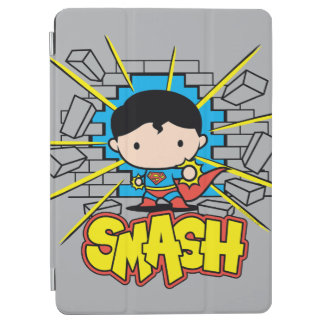 Chibi Superman Smashing Through Brick Wall iPad Air Cover