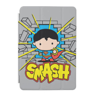 Chibi Superman Smashing Through Brick Wall iPad Mini Cover