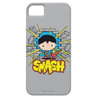 Chibi Superman Smashing Through Brick Wall iPhone 5 Cover