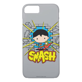 Chibi Superman Smashing Through Brick Wall iPhone 7 Case