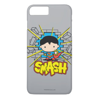Chibi Superman Smashing Through Brick Wall iPhone 7 Plus Case