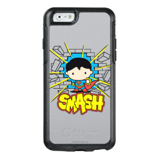 Chibi Superman Smashing Through Brick Wall OtterBox iPhone 6/6s Case