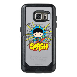 Chibi Superman Smashing Through Brick Wall OtterBox Samsung Galaxy S7 Case