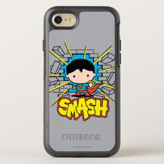 Chibi Superman Smashing Through Brick Wall OtterBox Symmetry iPhone 8/7 Case