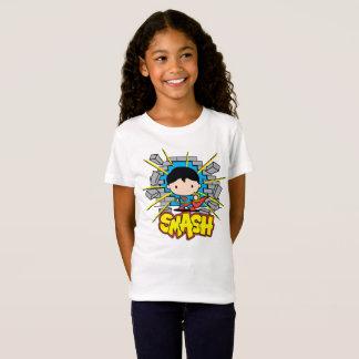 Chibi Superman Smashing Through Brick Wall T-Shirt