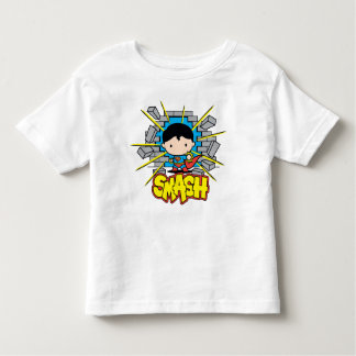 Chibi Superman Smashing Through Brick Wall Toddler T-shirt