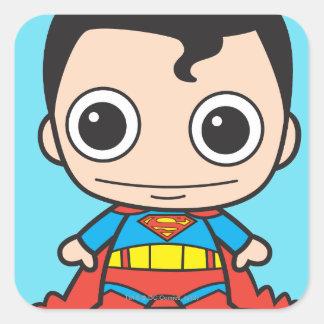 Chibi Superman Square Sticker