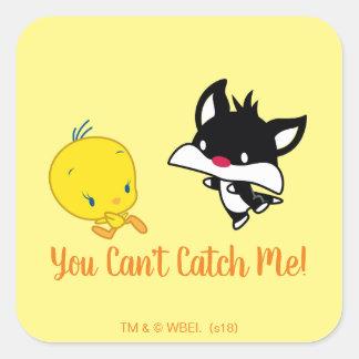 Chibi SYLVESTER™ Chasing TWEETY™ Square Sticker