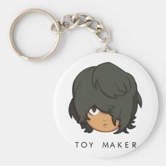 Chibi Toy Maker Button Keychain
