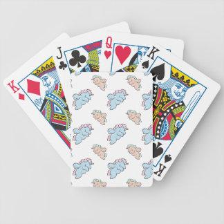 Chibi Unicorn Bicycle Playing Cards