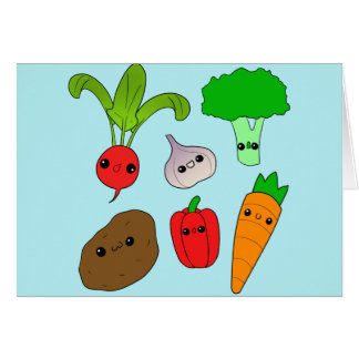 Chibi Vegetables Card