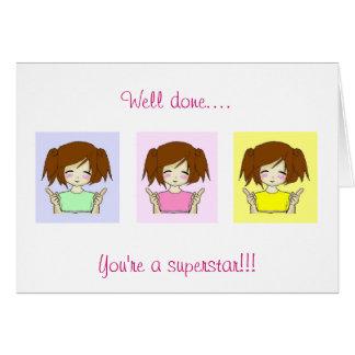 Chibi Well done superstar card
