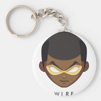 Chibi Wire Button Keychain