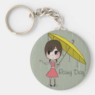 Chibi with Umbrella Keychain
