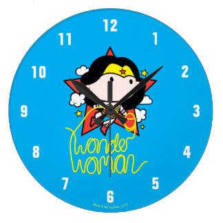 Chibi Wonder Woman Flying With Lasso Clock