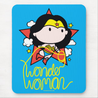 Chibi Wonder Woman Flying With Lasso Mouse Pad